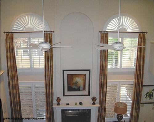 Custom High Double Story Window Treatments Installed In Monmouth County Nj
